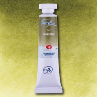 Акварельная краска Белые ночи 727 Оливковая 10 мл туба ЗХК «Невская палитра»