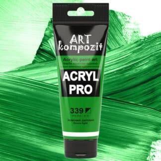 Акриловая краска 339 Зеленый светлый 75 мл Kompozit