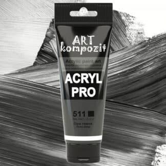 Акриловая краска 511 Серый темный 75 мл Kompozit
