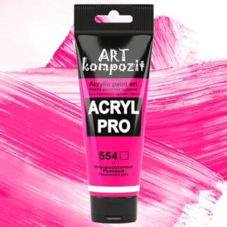 Акриловая краска 554 Розовый флуоресцентный 75 мл Kompozit