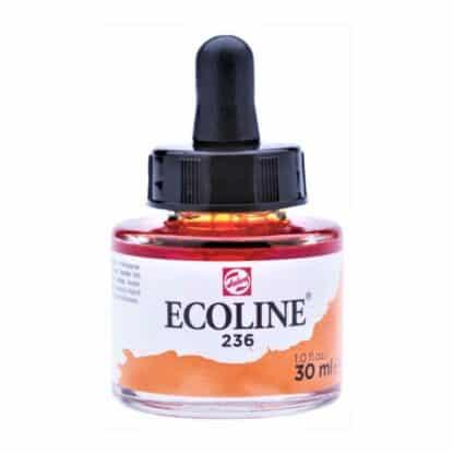 Акварельная краска жидкая Ecoline 236 Оранжевый светлый 30 мл с пипеткой
