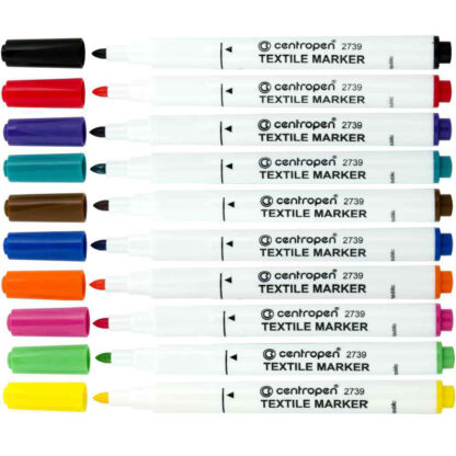 Маркер по ткани Textile Marker 01 Черный 2 мм Centropen