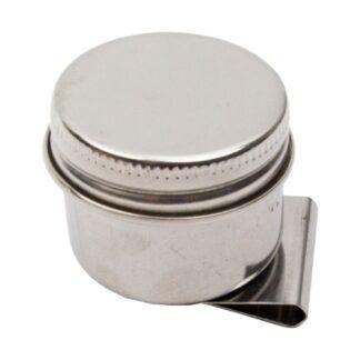 Масленка одинарная металлическая с крышкой Ø 3,6х2 см (11026) D. K. ART & CRAFT